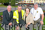 Celebrating the announcement that Killarney won the Irelands Cleanest Town award in the Irish Business Against Litter competition on Monday were Michael O'Leary, town clerk, Noel O'Leary, Killarney UDC foreman, Yvonne Quill, Killarney Tidy Towns and Cllr Sean Counihan, Killarney Town Mayor.........
