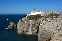 Portugal, Algarve, Cape St Vincent, Cabo de Sao Vicente: The Lighthouse, Europe's most powerful
