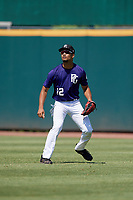 Jaden Sheffield (12) of Tampa Preparatory School in Tampa, FL during the Perfect Game National Showcase at Hoover Metropolitan Stadium on June 19, 2020 in Hoover, Alabama. (Mike Janes/Four Seam Images)