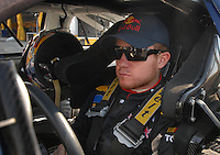 Feb 10, 2007; Daytona, FL, USA; Nascar Nextel Cup driver Brian Vickers (83) during practice for the Daytona 500 at Daytona International Speedway. Mandatory Credit: Mark J. Rebilas