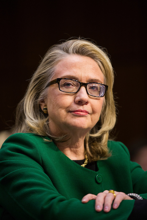 U.S.Secretary of State Hillary Clinton testifies on the September attack on U.S. diplomatic sites in Benghazi, Libya during a hearing held by the U.S. Senate Foreign Relations Committee on Capitol Hill in Washington.
