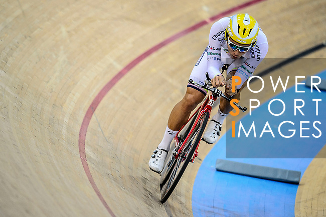 Lau Wan Hei Victor of team X SPEED during the Indiviual Pursuit Open Qualifying (4KM) Track Cycling Race 2016-17 Series 3 at the Hong Kong Velodrome on February 4, 2017 in Hong Kong, China. Photo by Marcio Rodrigo Machado / Power Sport Images