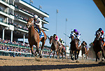 November 3, 2018: Audible #3, ridden by Javier Castellano, wins the 1st running of the Qatar Cherokee Run Stakes on Breeders' Cup World Championship Saturday at Churchill Downs on November 3, 2018 in Louisville, Kentucky. Scott Serio/Eclipse Sportswire/CSM