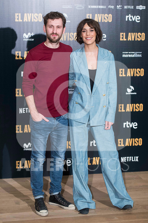 """Raul Arevalo and Belen Cuesta attends to the presentation of the film """"El Aviso"""" at URSO Hotel in Madrid , Spain. March 19, 2018. (ALTERPHOTOS/Borja B.Hojas)"""