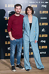 "Raul Arevalo and Belen Cuesta attends to the presentation of the film ""El Aviso"" at URSO Hotel in Madrid , Spain. March 19, 2018. (ALTERPHOTOS/Borja B.Hojas)"