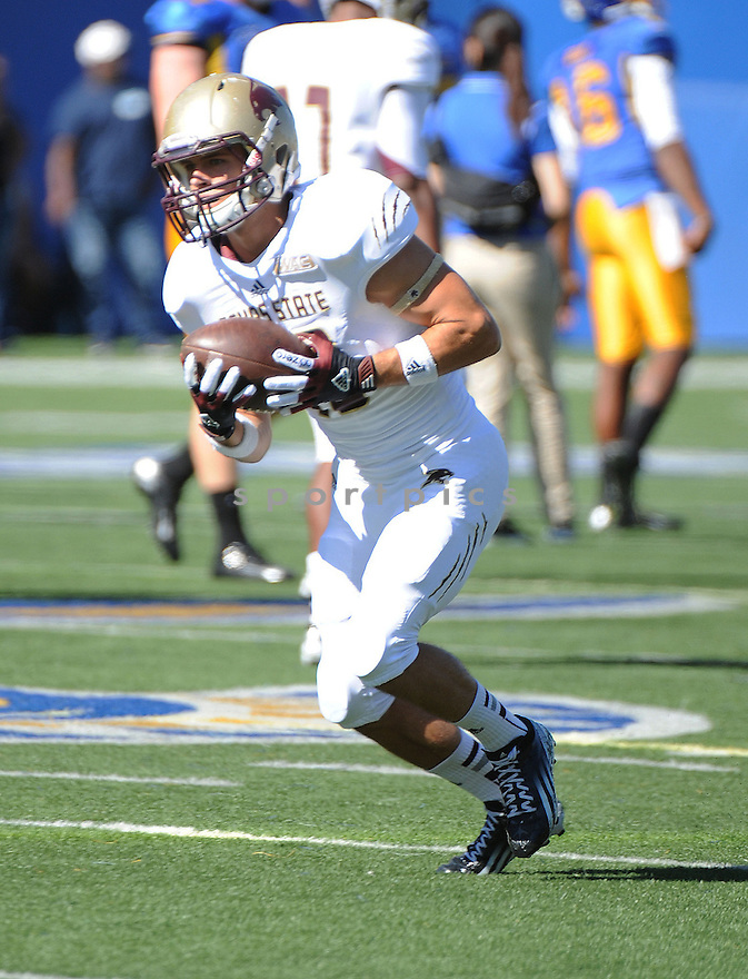 Texas State Bobcats Andy Erickson (13) in action during a game against San Jose State on October 27, 2012 at Spartan Stadium in San Jose, CA. San Jose State beat Texas State 31-20.