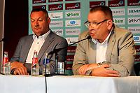 30 KM<br /> GRONINGEN - VOETBAL , Presentatie Ron Jans als Technisch manager VAN FC Groningen, 20-06-2017 Ron Jans en hans Nijland