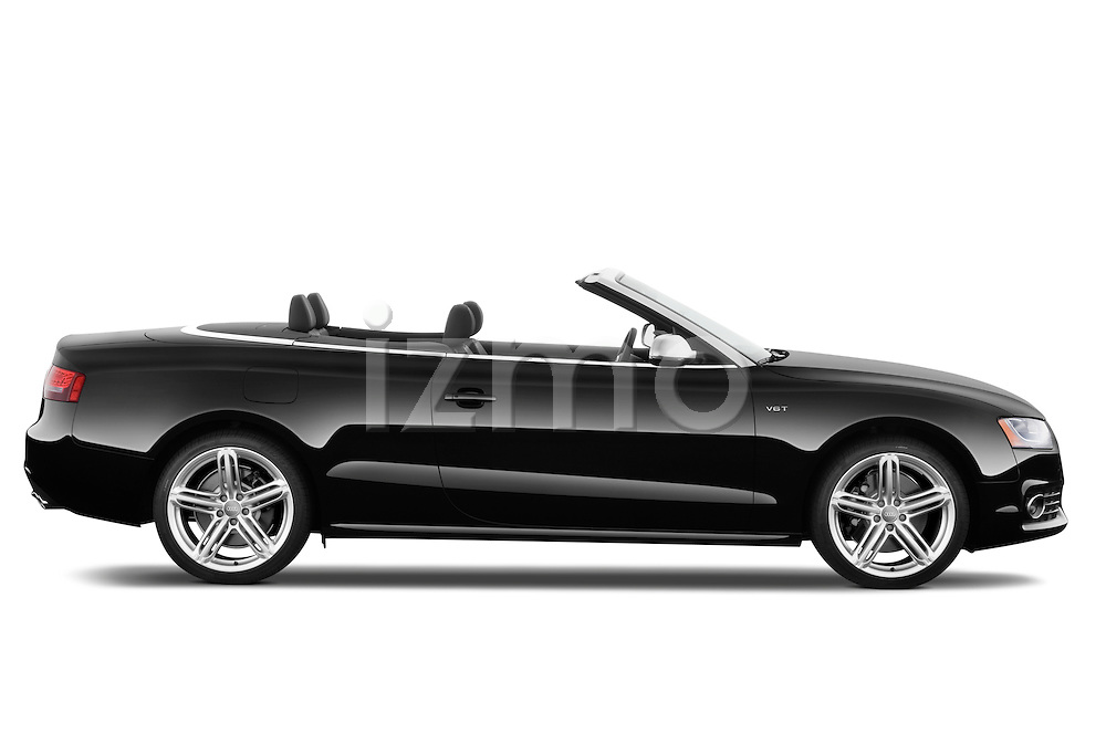 Passenger side profile view of a 2010 - 2011 Audi S5 Cabriolet