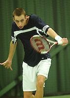 10-3-06, Netherlands, tennis, Rotterdam, National indoor junior tennis championchips, Thomas Schorel