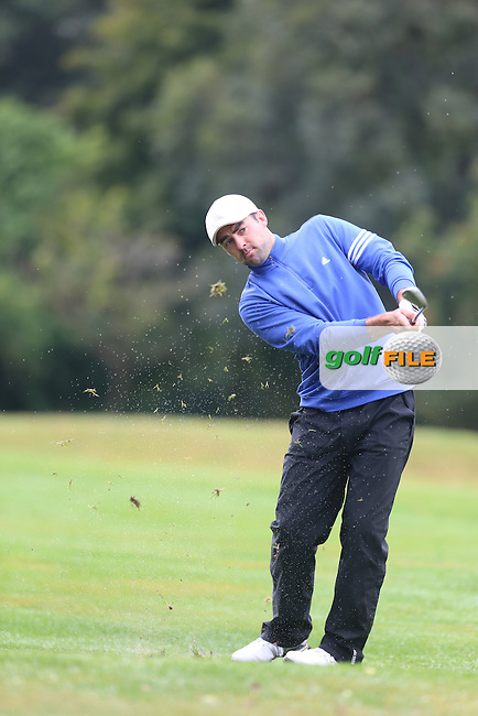 David Laird (Mahee Island) during the Ulster Mixed Foursomes Final, Shandon Park Golf Club, Belfast. 19/08/2016<br /> <br /> Picture Jenny Matthews / Golffile.ie<br /> <br /> All photo usage must carry mandatory copyright credit (&copy; Golffile | Jenny Matthews)
