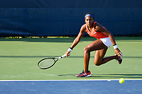 Washington, DC - August 3, 2019: Coco Gauff (USA) in action during the WTA Woman's Doubles Championship at Rock Creek Tennis Center, in Washington D.C. (Photo by Philip Peters/Media Images International)