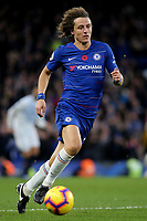 David Luiz of Chelsea in action during Chelsea vs Everton, Premier League Football at Stamford Bridge on 11th November 2018