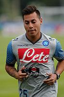 Edu Vargas<br /> ritiro precampionato Napoli Calcio a  Dimaro 23 Luglio 2014<br /> <br /> Preseason summer training of Italy soccer team  SSC Napoli  in Dimaro Italy July 23, 2014