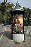 Advertising kiosk in Istanbul, Turkey