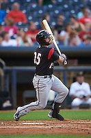 Richmond Flying Squirrels shortstop C.J Hinojosa (25) at bat during a game against the Akron RubberDucks on July 26, 2016 at Canal Park in Akron, Ohio .  Richmond defeated Akron 10-4.  (Mike Janes/Four Seam Images)
