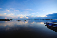 Blue sunrise on Suriname River