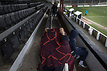 Early arrivals in the main stand at Victory Park, before Chorley played Altrincham in a Vanarama National League North fixture. Chorley were founded in 1883 and moved into their present ground in 1920. The match was won by the home team by 2-0, watched by an above-average attendance of 1127.