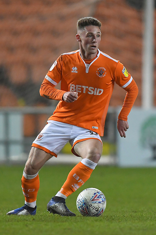 Blackpool's Matty Virtue<br /> <br /> Photographer Dave Howarth/CameraSport<br /> <br /> The EFL Sky Bet League One - Blackpool v Doncaster Rovers - Tuesday 12th March 2019 - Bloomfield Road - Blackpool<br /> <br /> World Copyright © 2019 CameraSport. All rights reserved. 43 Linden Ave. Countesthorpe. Leicester. England. LE8 5PG - Tel: +44 (0) 116 277 4147 - admin@camerasport.com - www.camerasport.com