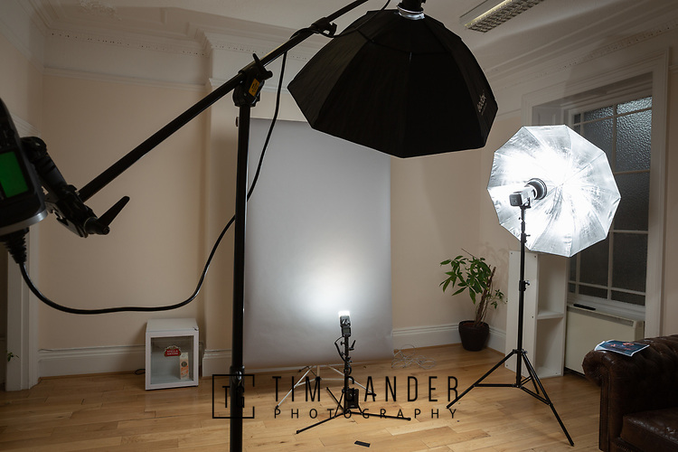 10/05/2018 Business profile portrait studio set-up for Codeo (Bristol) Ltd<br /> <br /> Office: Bristol<br /> <br /> The lighting and backdrop arrangement at the Codeo Bristol office for their portrait session.