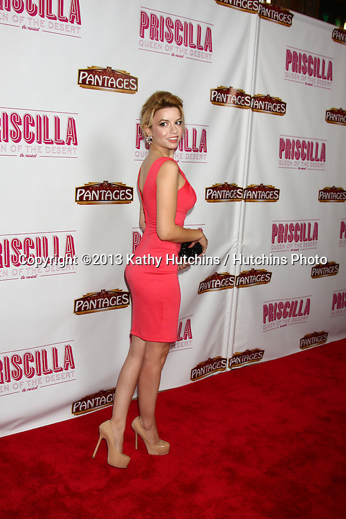 "LOS ANGELES - MAY 29:  Masiela Lusha arrives at  the ""Priscilla Queen of the Desert"" Play Opening at the Pantages Theater on May 29, 2013 in Los Angeles, CA"
