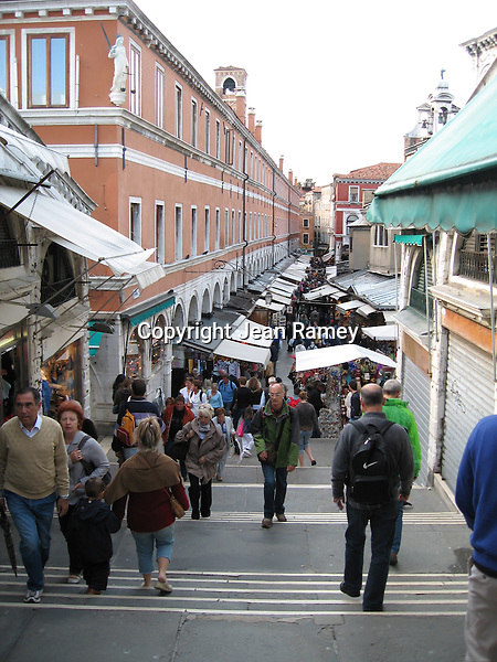Markets on the Rialto Bridge - Venice