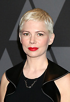 HOLLYWOOD, CA - NOVEMBER 11: Michelle Williams at the AMPAS 9th Annual Governors Awards at the Dolby Ballroom in Hollywood, California on November 11, 2017. <br /> CAP/MPI/DE<br /> &copy;DE/MPI/Capital Pictures