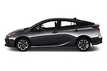 Car driver side profile view of a 2019 Toyota Prius XLE 5 Door Hatchback