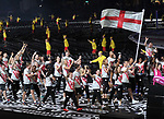 Alistair Brownlee carries the flag for Team England. Opening Ceremony. XXI Commonwealth games. Carrara Stadium. Gold Coast 2018. Queensland. Australia. 04/04/2018. ~ MANDATORY CREDIT Garry Bowden/SIPPA - NO UNAUTHORISED USE - +44 7837 394578