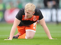 Blackpool's Mark Cullen during the pre-match warm-up <br /> <br /> Photographer Kevin Barnes/CameraSport<br /> <br /> The EFL Sky Bet League One - Plymouth Argyle v Blackpool - Saturday 15th September 2018 - Home Park - Plymouth<br /> <br /> World Copyright &copy; 2018 CameraSport. All rights reserved. 43 Linden Ave. Countesthorpe. Leicester. England. LE8 5PG - Tel: +44 (0) 116 277 4147 - admin@camerasport.com - www.camerasport.com
