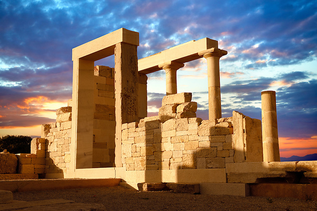 Ancient Temple of Demeters, Naxos, Greek Cyclades Islands