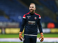 Bolton Wanderers' Ben Alnwick warming up before the match <br /> <br /> Photographer Andrew Kearns/CameraSport<br /> <br /> The EFL Sky Bet Championship - Bolton Wanderers v West Bromwich Albion - Monday 21st January 2019 - University of Bolton Stadium - Bolton<br /> <br /> World Copyright © 2019 CameraSport. All rights reserved. 43 Linden Ave. Countesthorpe. Leicester. England. LE8 5PG - Tel: +44 (0) 116 277 4147 - admin@camerasport.com - www.camerasport.com