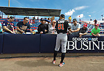 9 March 2016: Miami Marlins outfielder Ichiro Suzuki signs autographs prior to a Spring Training pre-season game against the Washington Nationals at Space Coast Stadium in Viera, Florida. The Nationals defeated the Marlins 7-4 in Grapefruit League play. Mandatory Credit: Ed Wolfstein Photo *** RAW (NEF) Image File Available ***