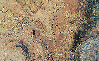 The remains of the Vredefort Crater near Johannesburg, South Africa