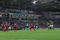 Northern Ireland's Chris Brunt scores his sides second goal    <br /> <br /> <br /> Photographer Craig Mercer/CameraSport<br /> <br /> FIFA World Cup Qualifying - European Region - Group C - Northern Ireland v Czech Republic - Monday 4th September 2017 - Windsor Park - Belfast<br /> <br /> World Copyright &copy; 2017 CameraSport. All rights reserved. 43 Linden Ave. Countesthorpe. Leicester. England. LE8 5PG - Tel: +44 (0) 116 277 4147 - admin@camerasport.com - www.camerasport.com