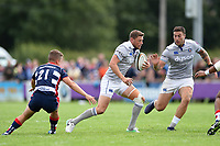 Rhys Priestland of Bath Rugby in possession. Pre-season friendly match, between Bristol Rugby and Bath Rugby on August 12, 2017 at the Cribbs Causeway Ground in Bristol, England. Photo by: Patrick Khachfe / Onside Images