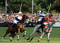 A polo match at the Guard's Club on Smith's Lawn, Windsor Great Park.