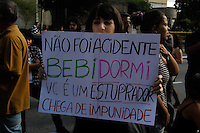 """SAO PAULO, SP, 26 MAIO 2012- MANIFESTAÇÃO/MARCHA DAS VADIAS - Manifestantes se reunem  na tarde deste sabado (26),  a segunda edição da Marcha das Vadias. A concentração acontece às 13h na praça do Ciclista, no canteiro central da avenida Paulista na região central de São Paulo, próximo à rua da Consolação. A manifestação é inspirada no movimento mundial intitulado """"Slut Walk"""", criado em abril do ano passado, após um oficial da polícia de Toronto, no Canadá, dizer que, para evitar estupros, as mulheres deveriam deixar de se """"vestir como vadias"""".(Fotos: Amauri Nehn/Brazil Photo Press)"""