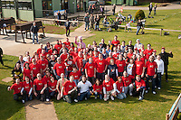 Daring Virgin Media staff from all over the country descended on the East Midlands when they did a charity parachute jump