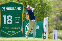 Masahiro Kawamura (JPN) on the 18th tee during the first round at the Nedbank Golf Challenge hosted by Gary Player,  Gary Player country Club, Sun City, Rustenburg, South Africa. 14/11/2019 <br /> Picture: Golffile | Tyrone Winfield<br /> <br /> <br /> All photo usage must carry mandatory copyright credit (© Golffile | Tyrone Winfield)