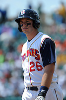 Brooklyn Cyclones catcher Kevin Plawecki (26) during game against the Aberdeen Ironbirds at MCU Park on July 24, 2012 in Brooklyn, NY.  Aberdeen defeated Brooklyn 6-3.  Tomasso DeRosa/Four Seam Images