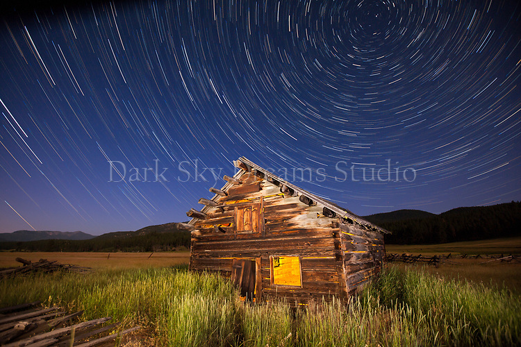 Night at Abandoned Ranch Near Potomac, MT