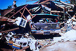 Photo taken by Amanda Porter of her father Paul's home shortly after  a tornado destroyed many homes in Vaughn, Georgia. Months later, the community is still picking up the pieces.