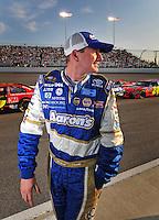 May 2, 2008; Richmond, VA, USA; NASCAR Sprint Cup Series driver Michael McDowell during qualifying for the Dan Lowry 400 at the Richmond International Raceway. Mandatory Credit: Mark J. Rebilas-US PRESSWIRE
