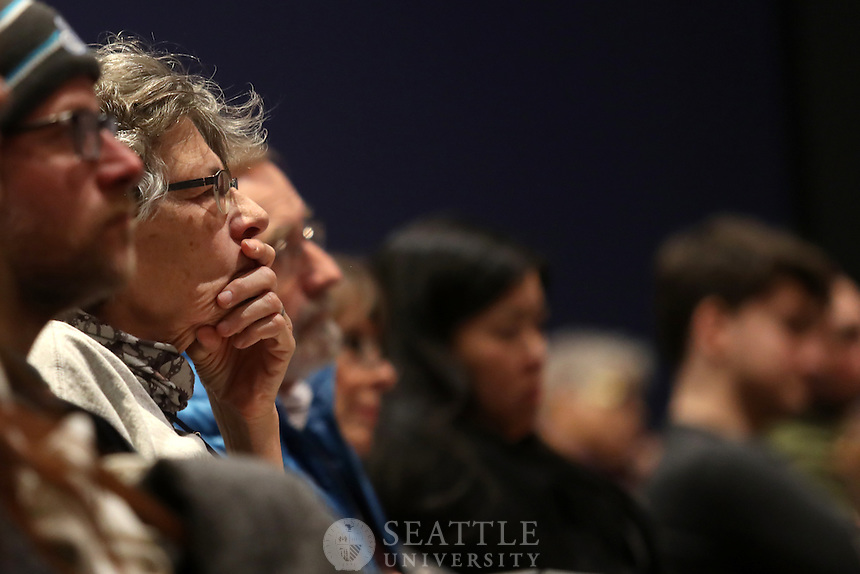 """January 11th 2017 - Seattle University hosts """"Addressing West Coast Homelessness: Conversation with Seattle Mayor Ed Murray and San Francisco Mayor Ed Lee"""" on campus as part of the Seattle U Project on Family Homelessness. The two mayors discussed strategies and goals for addressing individual and family homelessness, including the delivery and effectiveness of services, outreach methods used in California and Washington state, challenges in funding, and the innovative approaches Seattle and San Francisco are implementing to make homelessness rare, brief and one time only. Seattle University Master of Public Administration Director Larry Hubbell and Multi-Media Journalist Joni Balter led the discussion."""