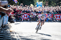 local hero Lizzie Deignan (GBR/Trek-Segafredo)<br /> <br /> Elite Women Road Race from Bradford to Harrogate (149km)<br /> 2019 Road World Championships Yorkshire (GBR)<br /> <br /> ©kramon