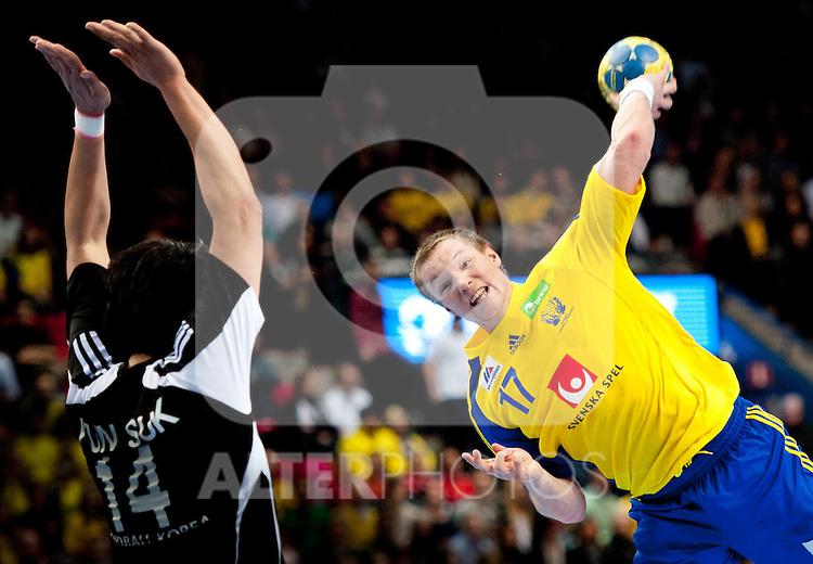 110117 Handboll, VM, Sverige - Sydkorea: Oscar Carlén, Sverige... Foto © nph / Bildbyrån   56400