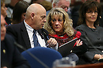 Nevada Assembly Republicans Jim Wheeler and Jill Dickman work in a committee at the Legislative Building in Carson City, Nev., on Wednesday, Feb. 25, 2015. <br /> Photo by Cathleen Allison