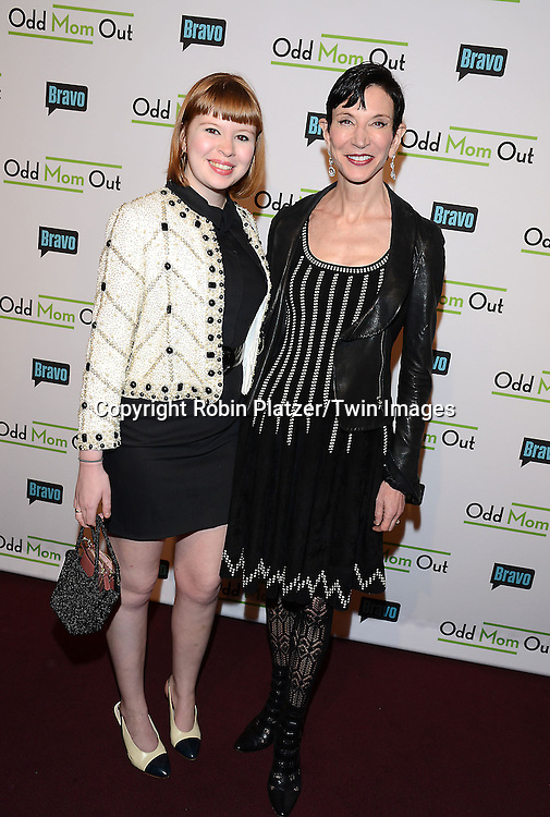 Flora and Amy Fine Collins attends the &quot;Odd Mom Out&quot; Screening, which is Bravo's first scripted half-hour comedy from Jill Kargman,  on June 3, 2015 at Florence Gould Hall in New York City, New York, USA.<br /> <br /> photo by Robin Platzer/Twin Images<br />  <br /> phone number 212-935-0770