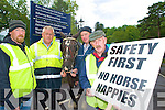 Killarney jarveys Jeremiah O'Shea, Michael Griffin, Dan Murphy and Dan Ferris who were part of the peaceful protest that was staged at the entrance to Muckross House on Tuesday after Killarney National Park blocked the jarveys from using the Park....