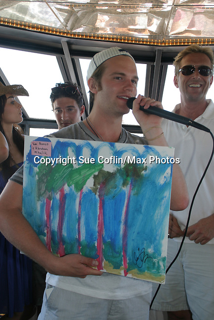 Van Hansis auctions his painting - 11th Annual SoapFest - Cruisin' & Schmoozin' on the Marco Island Princess to raise dollars to benefit Marco Island YMCA, theatre program & Art League of Marco Island on May 2, 2009 on Marco Island, FLA. (Photo by Sue Coflin/Max Photos)